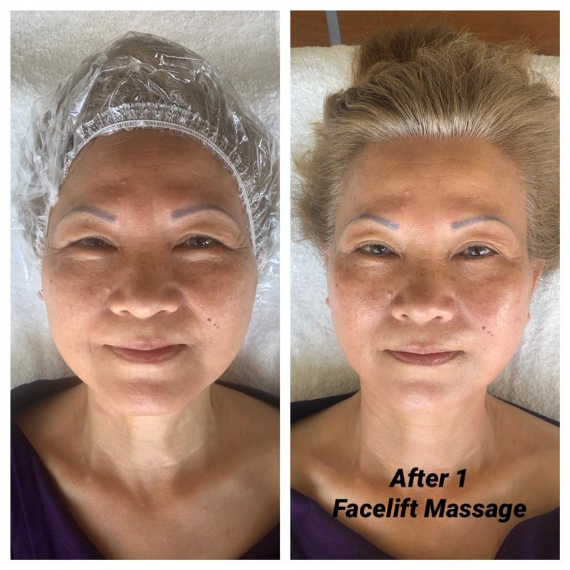 before after Lisa natural facelift massage